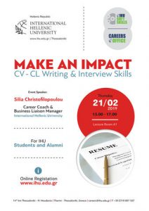 Make an Impact: CV Writing & Interview Skills